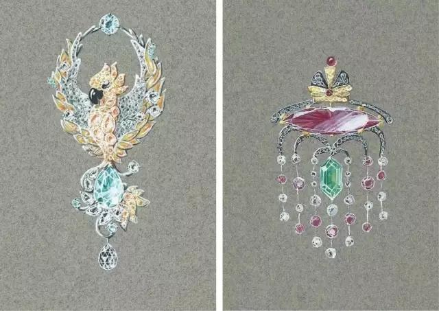 珠宝设计手绘课程 色彩因你而不同